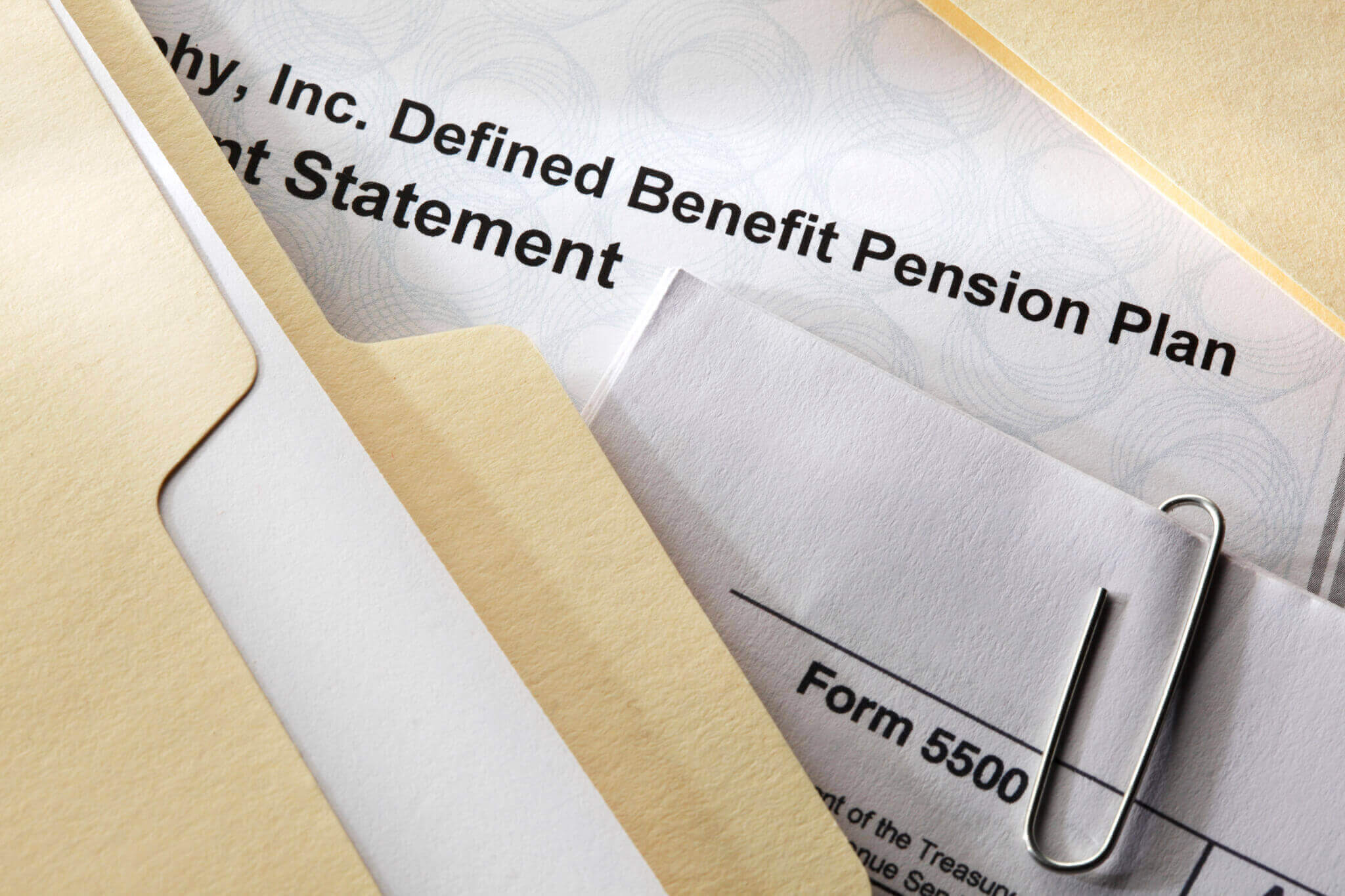 Defined benefit documents